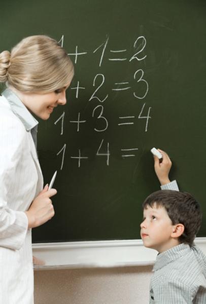 Учитель и ученик у доски